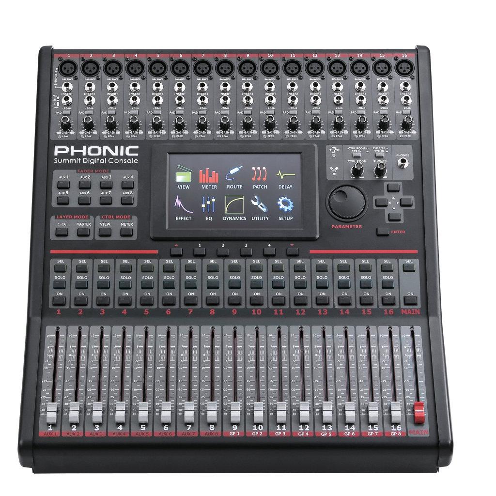 Summit Digital Meters : Phonic digital mixer is ប្រើបានជាមួយ ipad madison